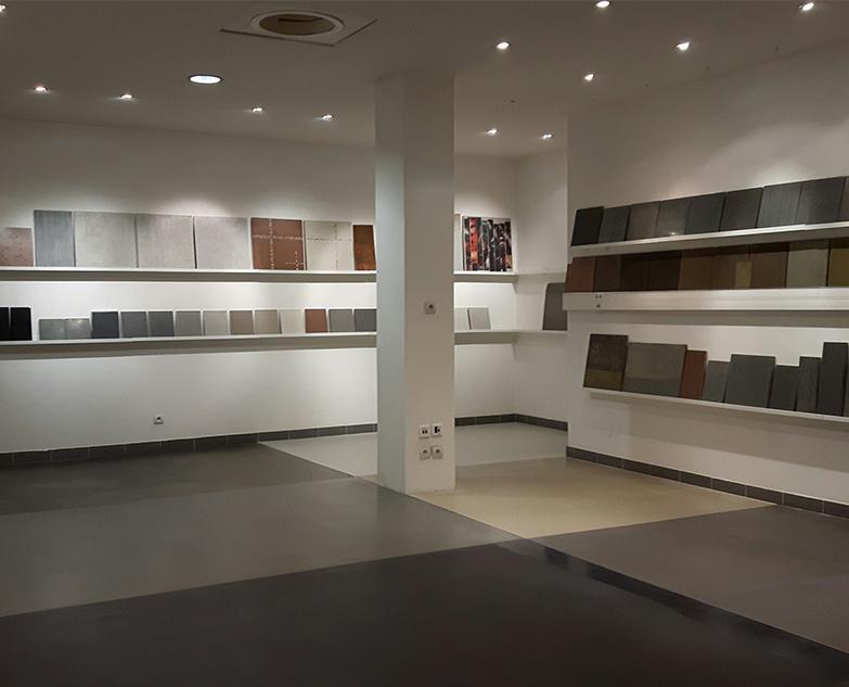 Beton Cire Showroom : Nouveau showroom béton ciré