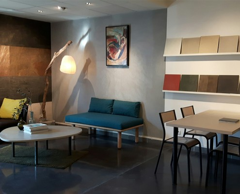 Beton cire showroom u materialen voor constructie