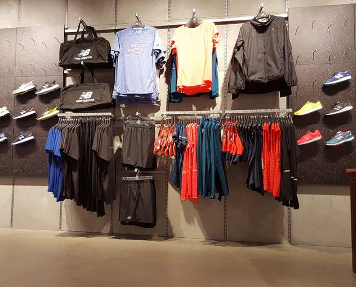 New Balance Premier magasin sol en béton ciré Les Halles Canopée